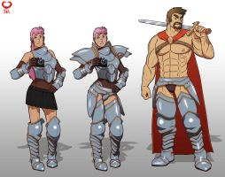 Armored heroes by leomon32