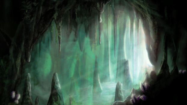Green Cave by CloudStrife1993