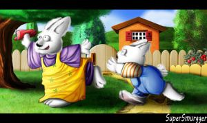 Max And Ruby, Playing In The Backyard by SuperSmurgger