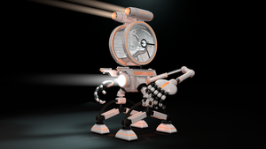 White Robot Controllable by Valadj