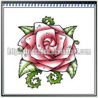Tattoo Design 037 - Rose by StriderDen