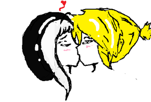 first kissing couple attempt by Lenylg