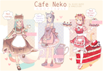 [OPEN] Cafe Neko Adoptable AUCTION #14 by Black-Quose