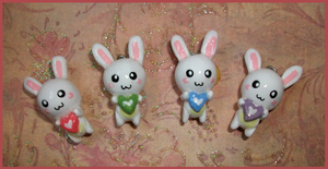 Chibi-Charms: Bunnies by MandyPandaa