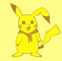 Pikachu in Monocolour by Holy-Paladin-Dareyn