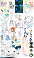 Doodle dump 2013 by mmishee