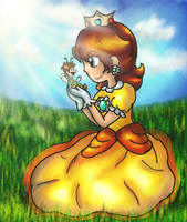 Mario: Daisy and the Bee .:redraw:. by AkiraHoshi-chan