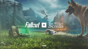Fallout x TES crossover  / Speed art video by maxasabin