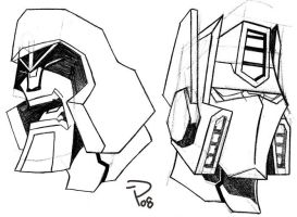 TFA Megatron and Optimus Prime by Billybosskeen