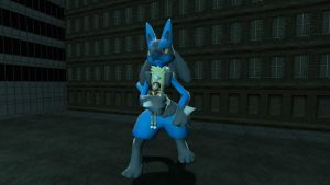 One Big Lucario by GMGTSP