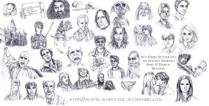 Harry Potter Tribute Sketches by MoPotter