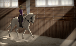 White Hercules - Dressage Training 1 by horsy1050