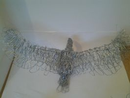 wire eagle sculpture by ULate