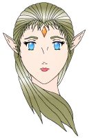 Elf Girl Colored by MuffinPie03
