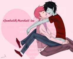 prince gumball/marshall lee by she4675