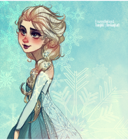 Frozen: the Snow Queen Elsa by ZARINAABZALILOVA