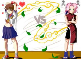 Sakura VS Sakura by Master-Angel