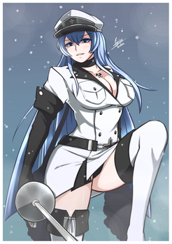 Esdeath [COMMISSION] by Airisubaka