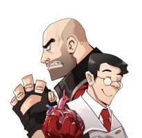 tf2 heavy  and medic blood by biggreenpepper