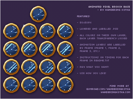 [Free Base] Animated Brooch Icon by wandering-kotka