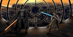 Star Wars obi wans first encounter by lifeformgraphics