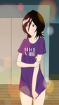 Rukia wearing ichigo's shirt updated by MuddieJ