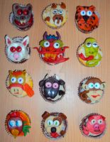 Chinese New Year Cupcakes 2012 by ToughSpirit