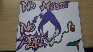 no music no peace by IceKiD200