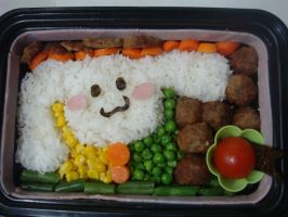 Cinnamon Roll Bento by luzzy