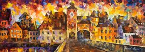 The city of hidden dreams by Leonid Afremov by Leonidafremov