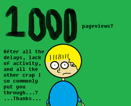 1000 Pageviews! by Totaldramaman