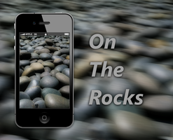 On The Rocks iPhone 4 Wall by biggzyn80