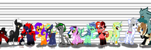 Pony lineup by ThaMutt