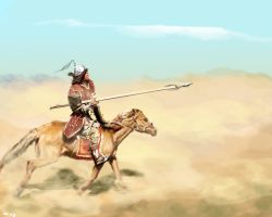 Mongol in a sandstorm by vegas9879