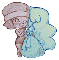 Ruby and Sapphire by xxfreedreamerxx