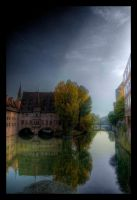 Nuremberg Bridge HDR by ceasetobeme