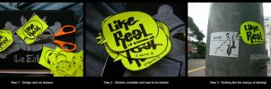 """Like Real"" Stickers by le-eskima"