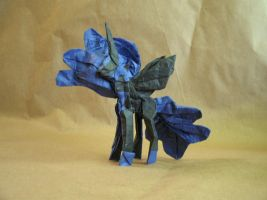 Origami Nightmare Moon by Cyberglass