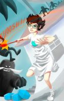 Jane vs Imps and Ogres - Homestuck fanart by leia
