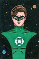 Green Lantern Headshot Colored by RichBernatovech