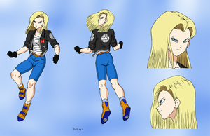 Android 18 Concept Sheet - Color Commission by The-Sakura-Samurai