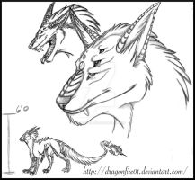Chimera Hellhound Concept by DracoFeathers