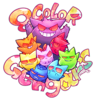 8 Color Gengar's by tamaume