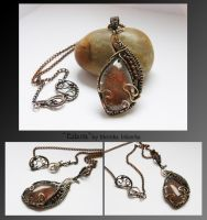 Edana- wire wrapped necklace by mea00