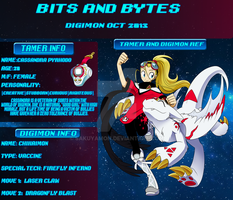 Bits And Bytes Digimon app- Cassy and Chikaimo by Sakuyamon
