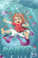 Ponyo- Movie poster by DEugenio