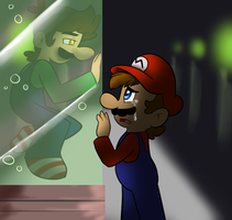 Luigi...dont go.. by raygirl12