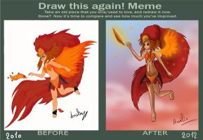 Meme Draw this again - phoenix by salainia
