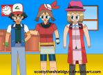Ash and his friends goes showed of Old School by scottytheshieldguy