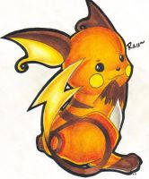 Raichu by Shoeafull
